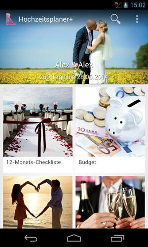 Android App für die Hochzeitsplanung