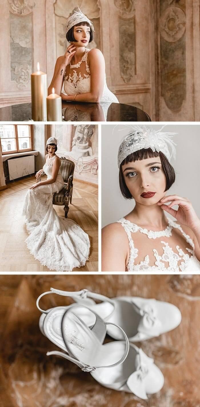 20er Jahre Hochzeitskleid