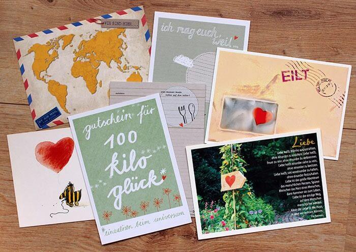 52 Postkarten Hochzeitsspiel für das Brautpaar