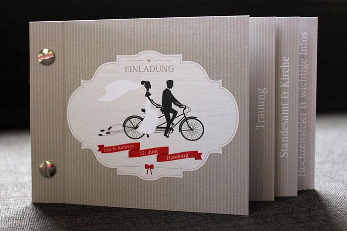 Ausgefallene hochzeitskarten bildergalerie hochzeitsportal24 - Hochzeitseinladung text modern ...