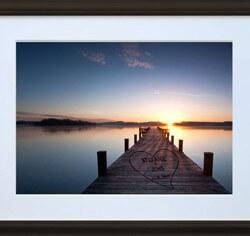Bild Sonnenuntergang mit eigenen Namen