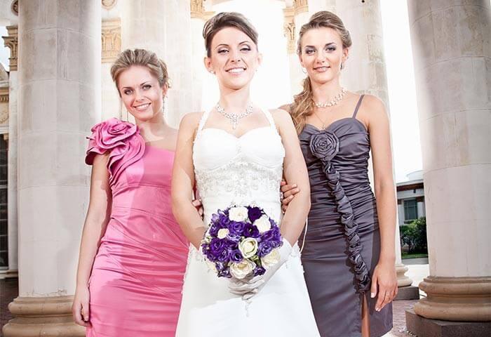 Braut Trauzeugin Freundinnen