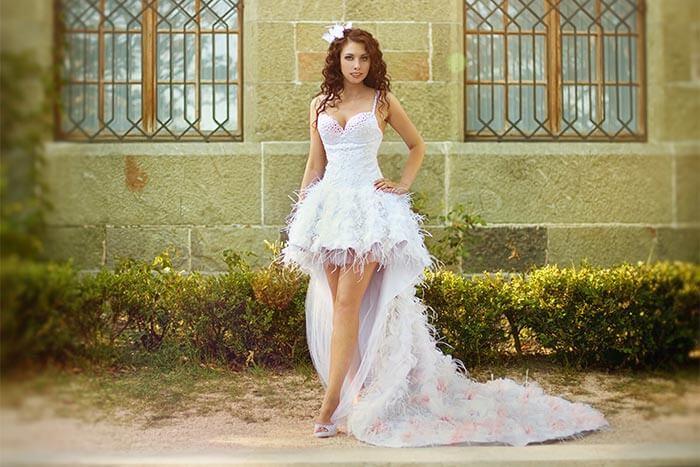 Kleid zu lang hochstecken
