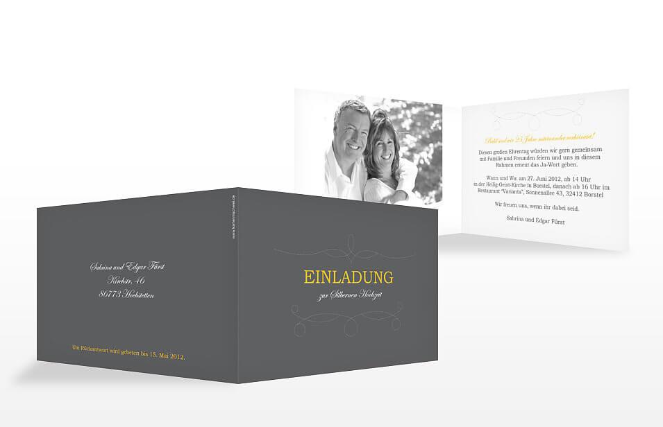Einladungskarten Silberhochzeit Einladungskarten: Einladungskarten Silberhochzeit