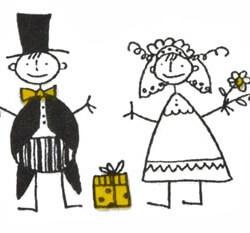 Freudentränen Taschentücher Brautpaar