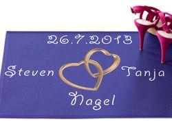 Fussabtreter Hochzeit personalisierbar mit Name und Datum