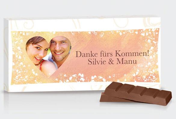 Gastgeschenk Foto Schokolade Hochzeitsportal24