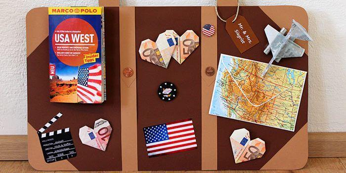 Geldgeschenk Zu Hochzeit Fur Reisefans Reisekoffer Basteln