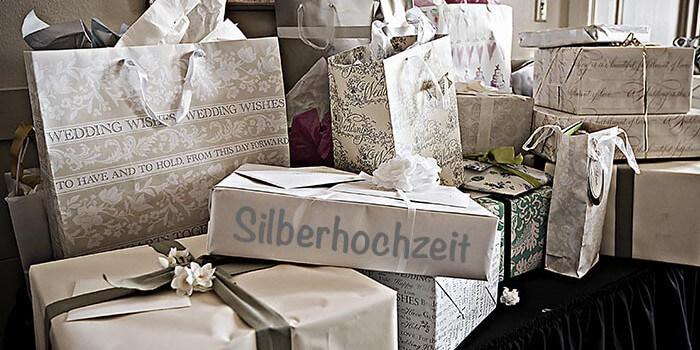 top 20 geschenke zur silberhochzeit tipps inspirationen. Black Bedroom Furniture Sets. Home Design Ideas