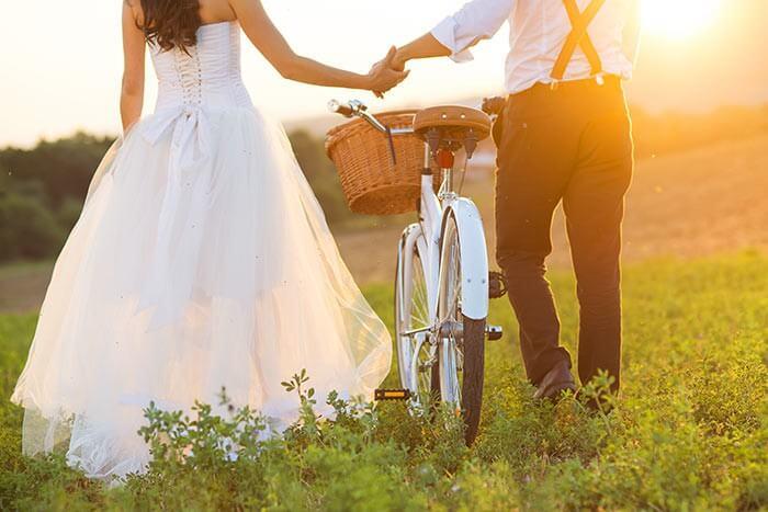 Heiraten im Freien Vintage