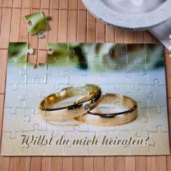 Heiratsantrag mit einem Fotopuzzle