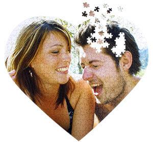 Herz Puzzle Hochzeit