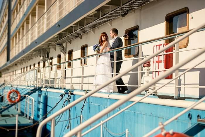Hochzeit auf einem Clubschiff