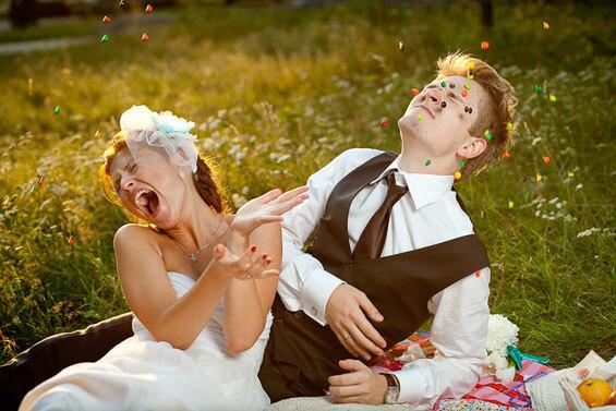 Hochzeitsbild lustig