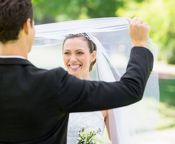 Hochzeitsbrauch Hochzeitsschleier Brautschleier