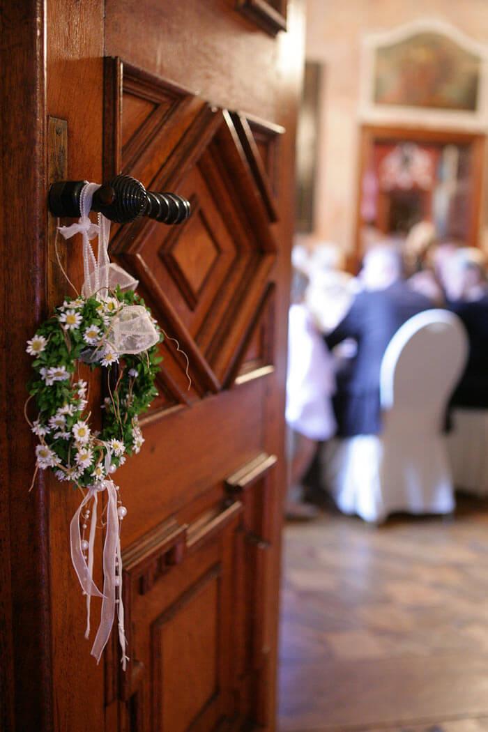 Hochzeitsdeko Tür