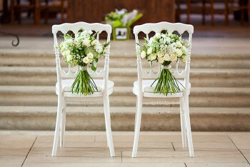 Hochzeitsdeko für Kirche