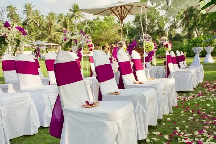Hochzeitsdeko pink