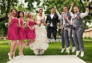 Hochzeitsfoto lustig