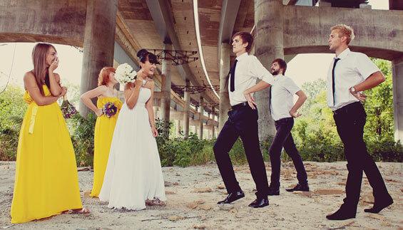 Hochzeitsfotos lustig