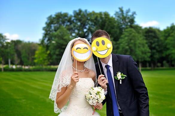 Lustige Hochzeitsaccessoires