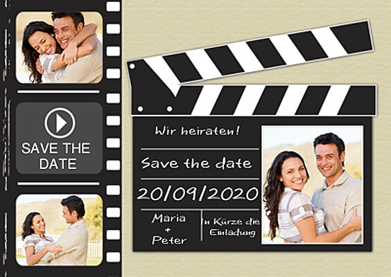 Save the Date Karte mit Foto