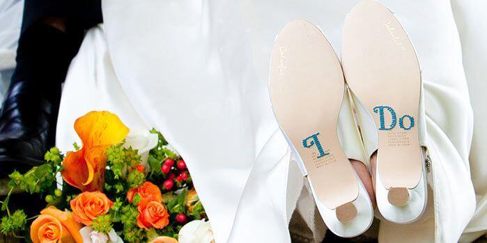 Schuhsticker Hochzeit
