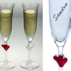 Gläser mit Gravur - eine tolle Geschenkidee zur Hochzeit