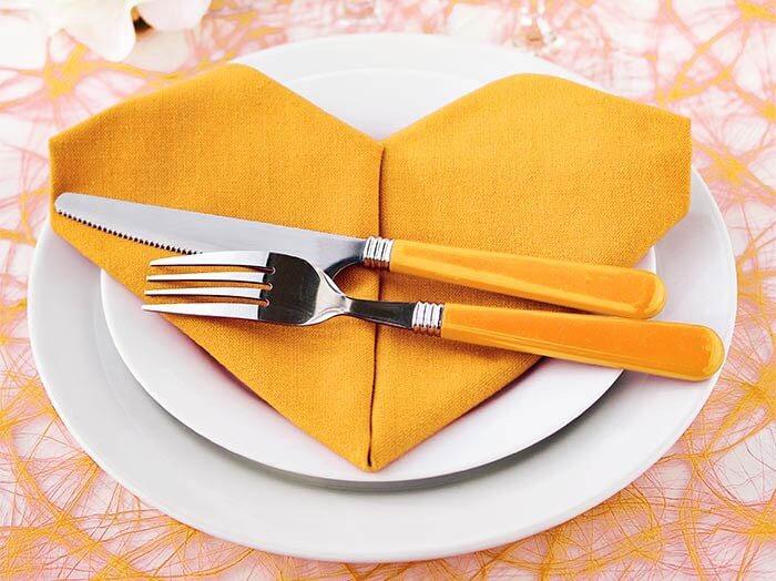 Servietten Goldene Hochzeit Deko