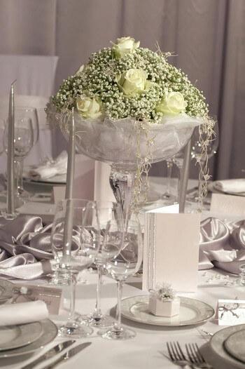 Silberhochzeit deko ideen mit pfiff von tischdeko bis for Silberhochzeit deko basteln