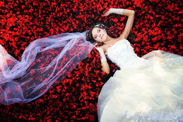 Trash-the-Dress Braut