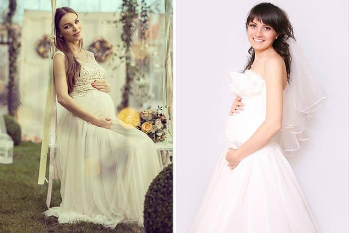 Schlichtes brautkleid fur schwangere
