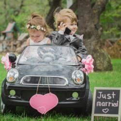 Autoschmuck zur Hochzeit mit Herz