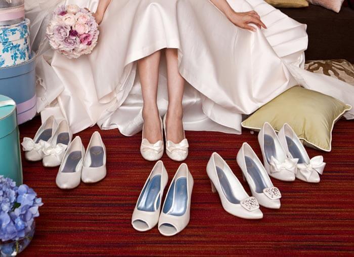 Brautschuhe für Schwangere