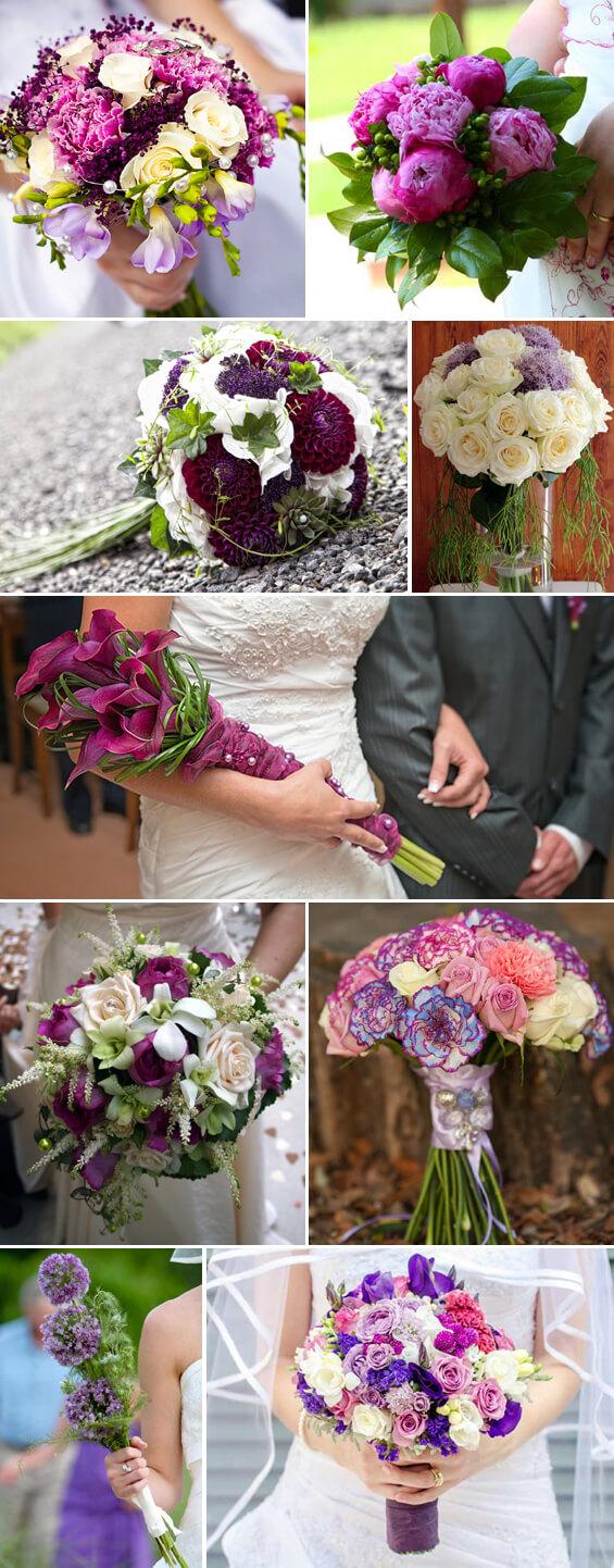 Brautsträuße in Lila