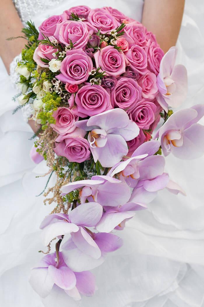 Brautstrau 223 Rosen Orchideen Bildergalerie Hochzeitsportal24
