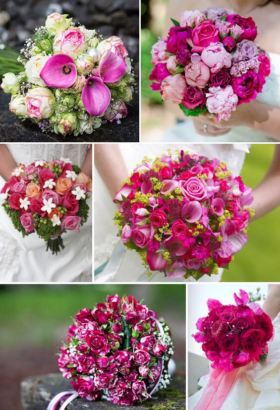 Brautstrauß in Pink – knallig und extravagant