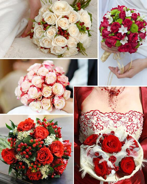Brautstrauss In Rot Weiss Eine Super Romantische Und Klassische