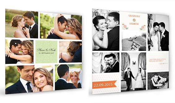 Fotocollage zur Hochzeit aus Hochzeitsfotos