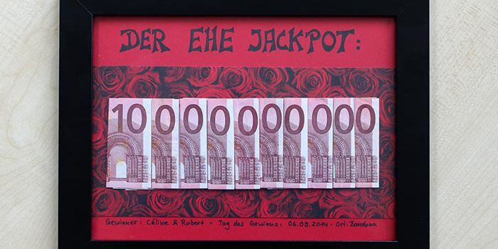 Ehe Jackpot Witziges Geldgeschenk Zur Hochzeit Leicht Selber Basteln