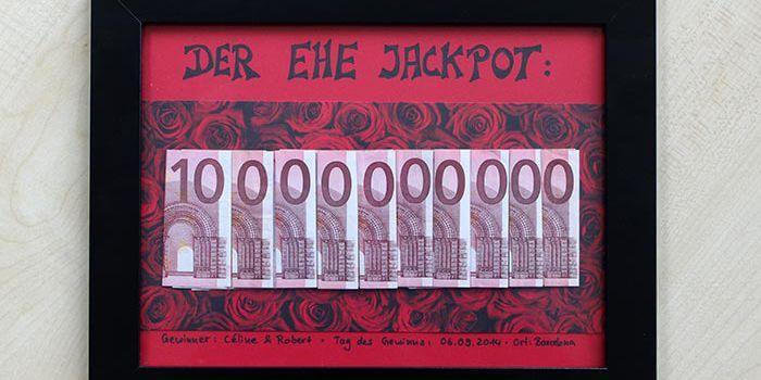 Geldgeschenk Ehe-Jackpot