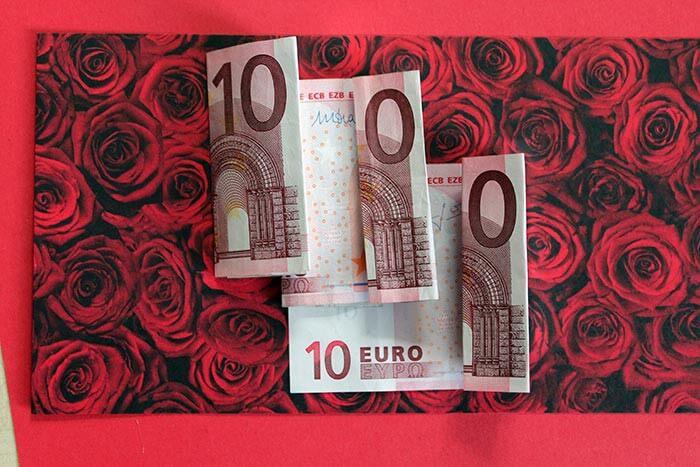 Geldgeschenk Ehe-Jackpot: Anleitung