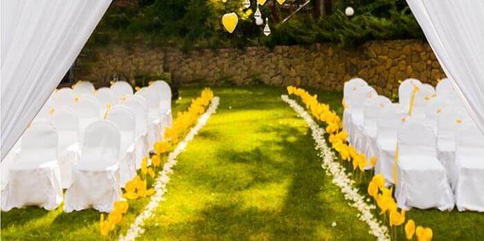Hochzeitsdeko Gelb