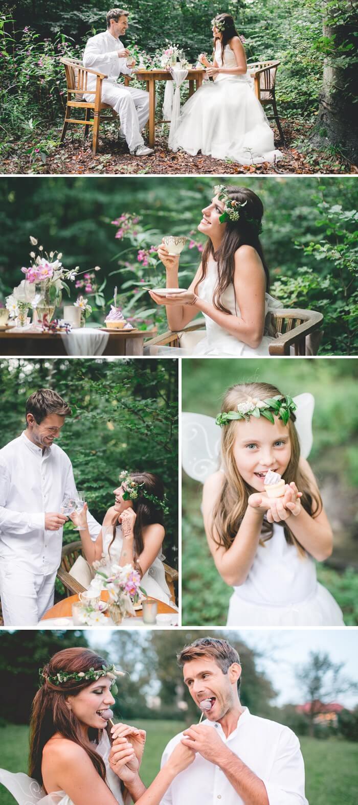 Hochzeitsfeier im Wald