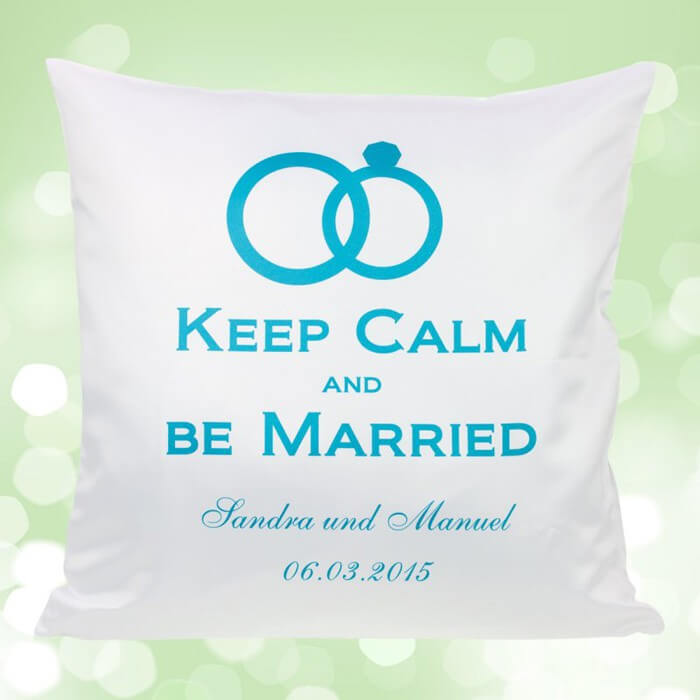 Hochzeitskissen Keep calm and be married