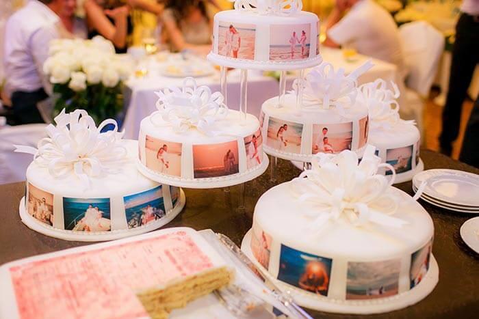 Hochzeitstorte mit Foto