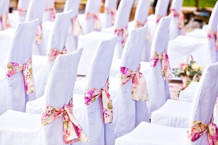 Sommer-Dekoration zur Hochzeit