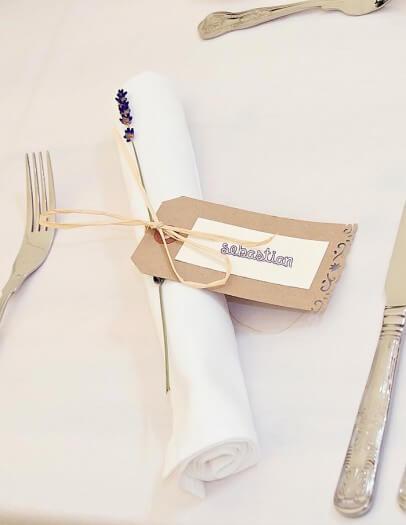 Tischkärtchen für die Hochzeit
