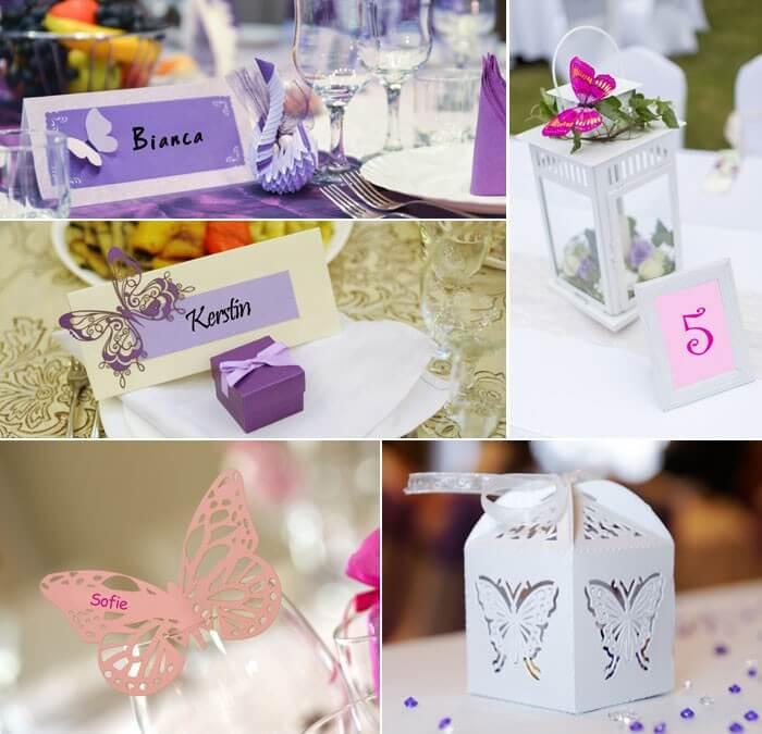 Tischkarten Schmetterlinge