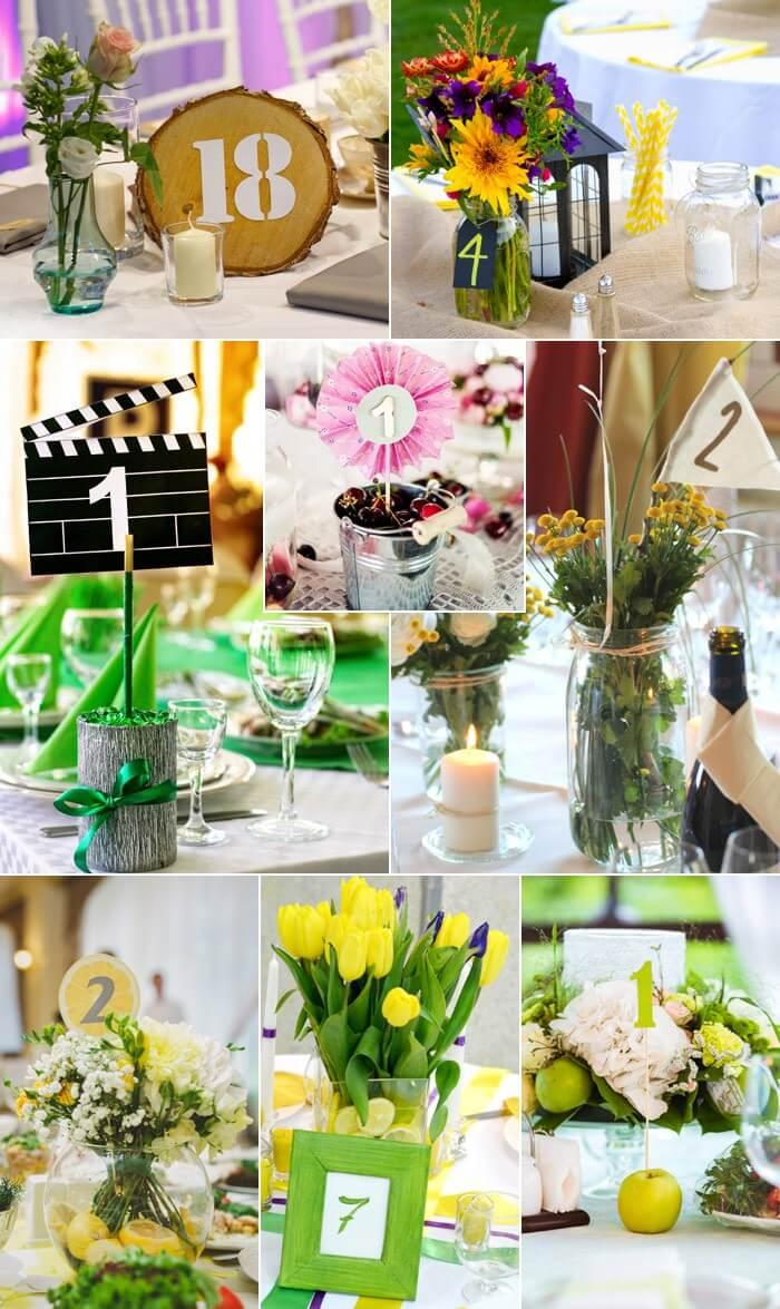 Tischnummern F R Die Hochzeit Kreative Und Witzige Beispiele